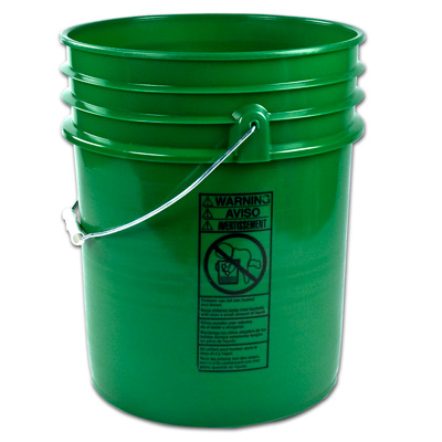 5 Gallon Bucket, Green (no handle)