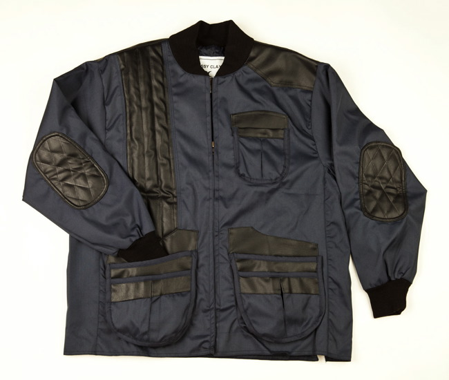 Classy Clays All-Weather Shooting Jacket -- Navy and Black shooting jacket, shooting coat, waterproof, water resistant, water repellant, gortex, vented