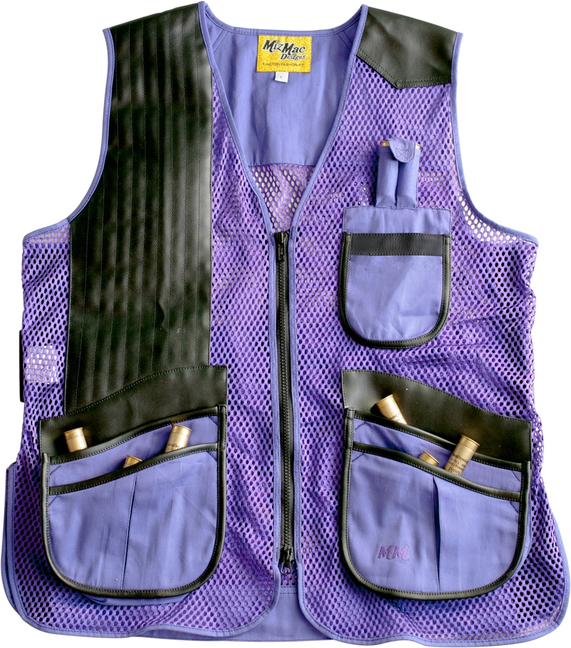 NEW 2015 MizMac Womens Perfect Fit Mesh Vest -- Purple womens shooting vest, mesh vest, leather shooting vest, leatherette vest, adjustable vest