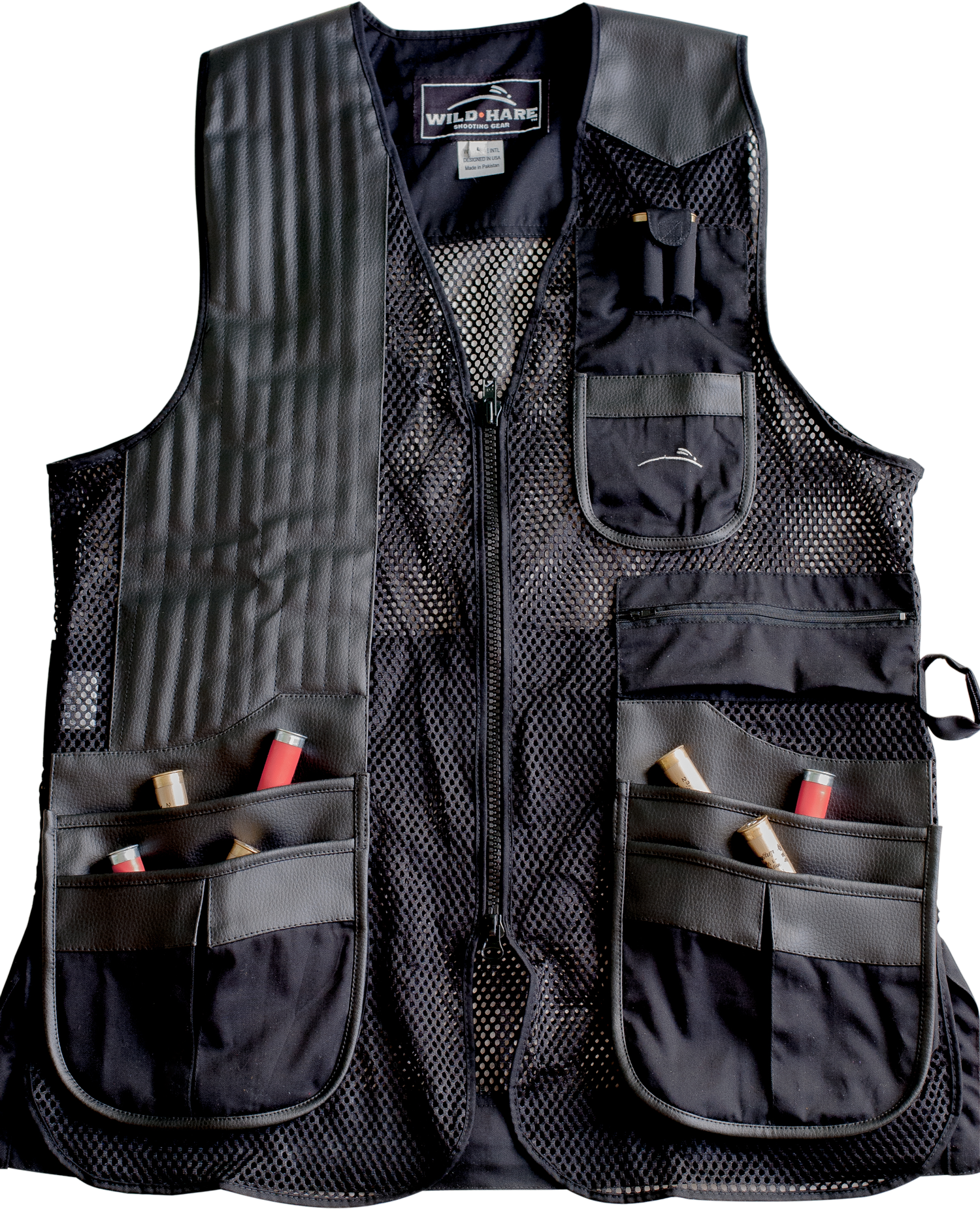 NEW Wild Hare Classy Clays Mesh Vest -- Black mesh shooting vest, heatwave, trap, skeet, sporting clays vest, reactar pad