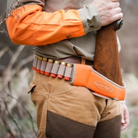 Quick-Shot Synthetic Shotgun Holster -- Blaze Orange shotgun holster, shotgun caddy, shotgun rest, rifle holster, gun caddy,