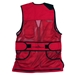 Wild Hare Heatwave Mesh Vest - Red and Black - WH-425S-RD-RH-L