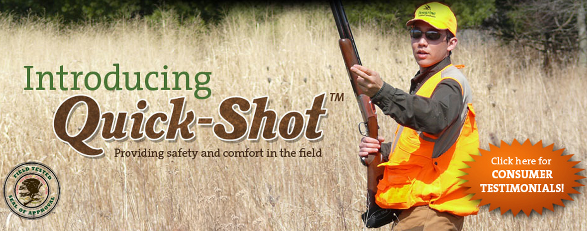 Quick-Shot shotgun and rifle holster black pheasant hunt