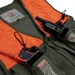 Trekker Dog Handler's Upland Hunting Vest with E collar remote pockets close up