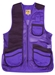 MizMac Womens Perfect Fit Mesh Vest - Genuine Leather Pad - Purple - MIZ-820L-PU-RH-L
