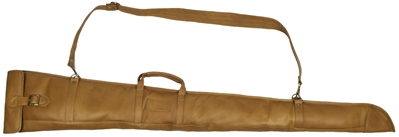 Wild Hare Leather Gunslip, 54 inch leather gun slip, gunboy, gun case, soft leather